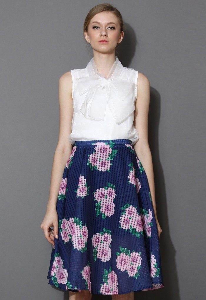 Bowknot Sleeveless Organza Top in White: Chicwish