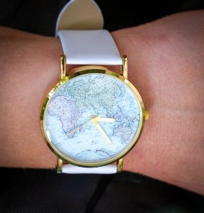 Pink Basis Map Watch