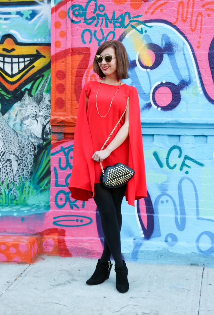 Shein Red Cape