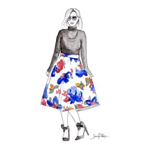 Drawing by Jen of Dressing With Class