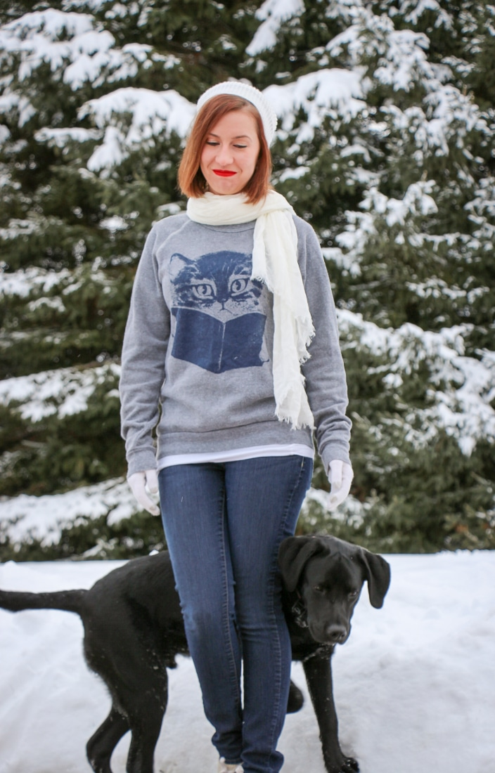 Cat sweatshirt ModCloth