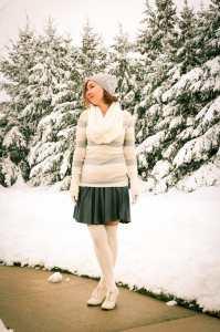 ModCloth skirt and socks
