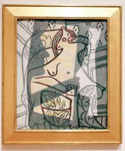 """Pablo Picasso, """"Woman in an Armchair."""""""