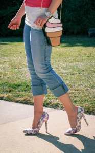 Machi Footwear floral heels