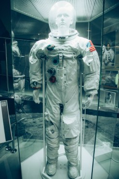 Michael Collins' space suit from the Apollo 11 mission.