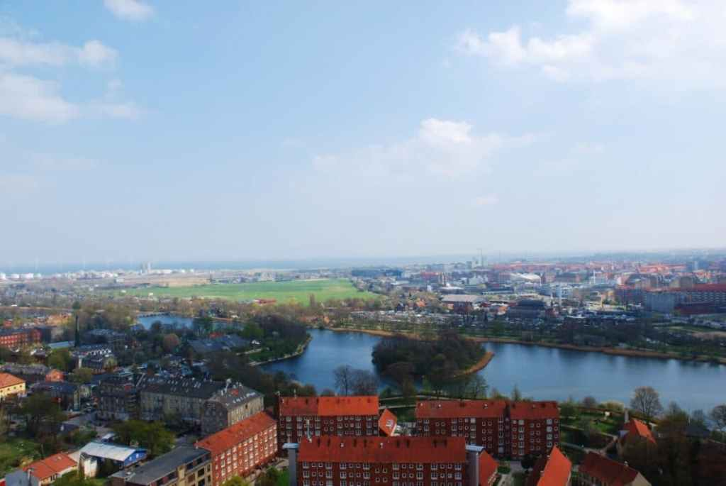 View of Copenhagen taken from The Church of Our Savior