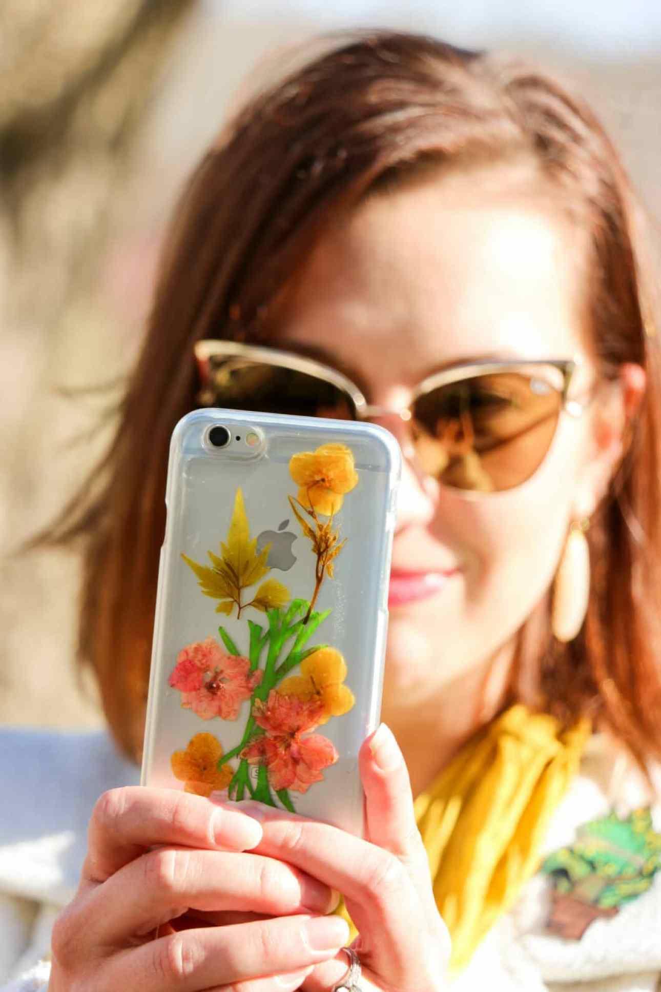 ModCloth Pressed Flower Phone Case