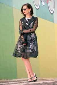 Yuna Yang polka dot see-through coat