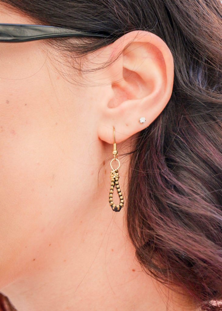 zipper earings
