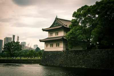 A view of guard tower and East Gate to the Imperial Palace