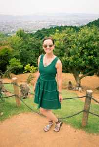 ModCloth Stylish Surprise Dress and Zappos Sandals