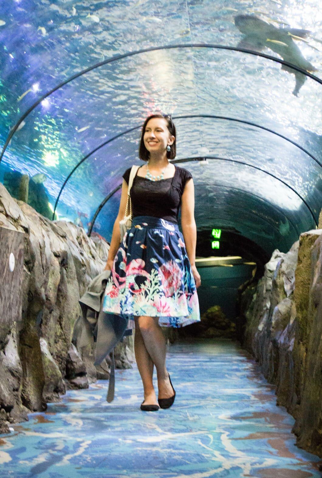 marine bio modcloth skirt