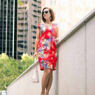 Styling a Red Floral Dress for Spring
