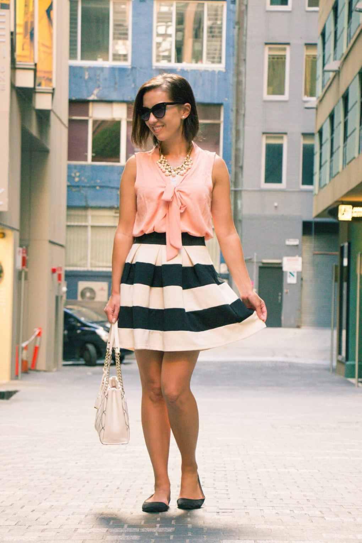 ModCloth striped skirt