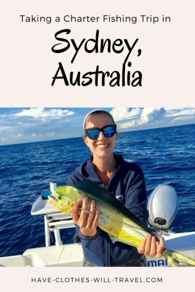 taking a charter fishing trip in Sydney, Australia