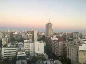 Rosario, Argentina at sunset