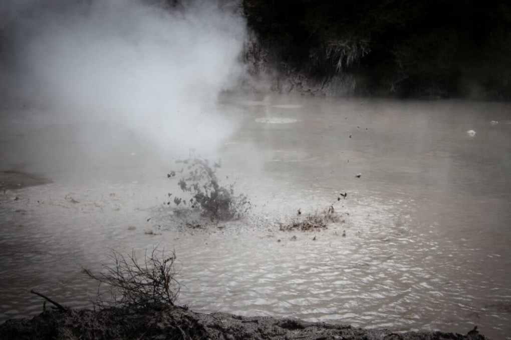 Boiling mud pools! New Zealand