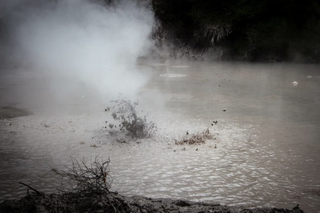 Boiling mud pools! New Zealand