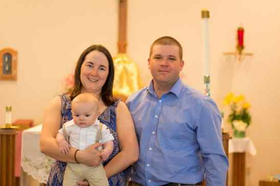 My brother & sister in law at Henry's baptism.