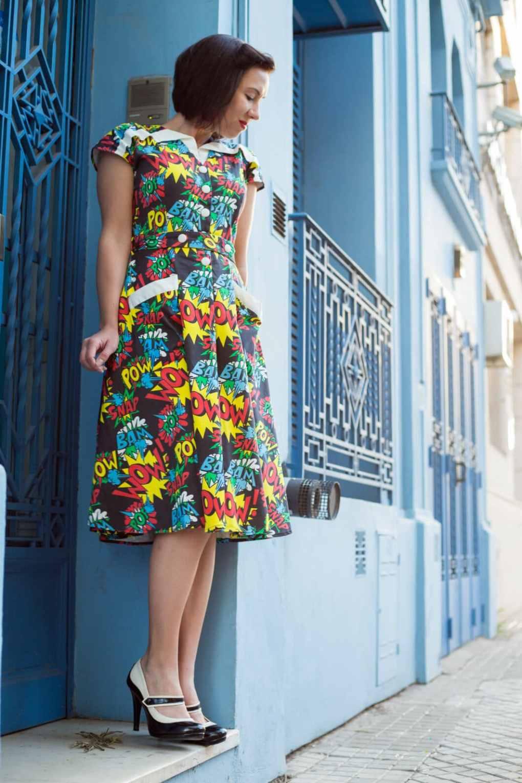 Unique Vintage comic book dress