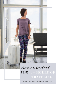 travel outfit for 30+ hours of traveling