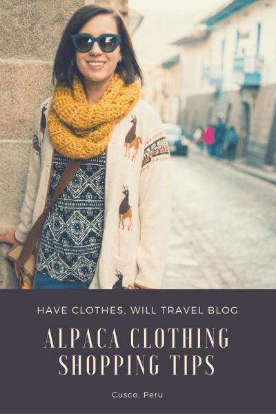 Alpaca Clothing Shopping Tips for Cusco, Peru