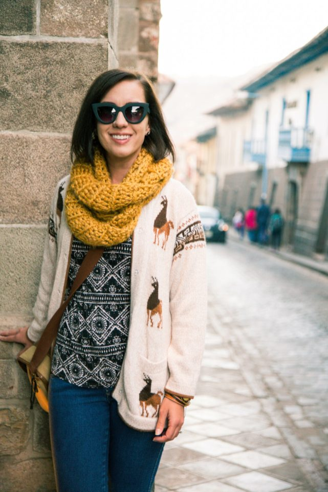 Cusco Peru travel outfit