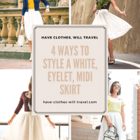 4 Ways to Style a White, Eyelet, Midi Skirt