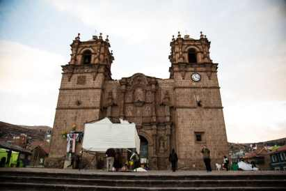 A cathedral in the main square of Puno.