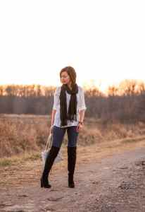 DSW boots & white button up