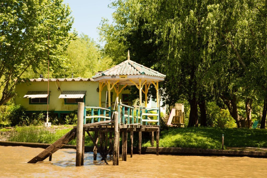 A summer home on the Tigre Delta that can only be reached by boat.
