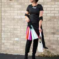 Pleated Rainbow Dress for NYE