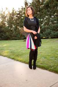 Pleated Rainbow Dress for NYE