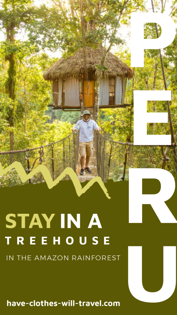 Treehouse Lodge in the Amazon Rainforest of Peru
