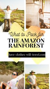 What to Pack for the Amazon Rainforest