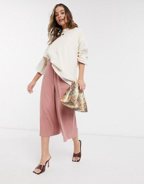 ASOS DESIGN Petite tailored clean culottes