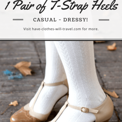 10 Different Looks Featuring 1 Pair of T-Strap Heels