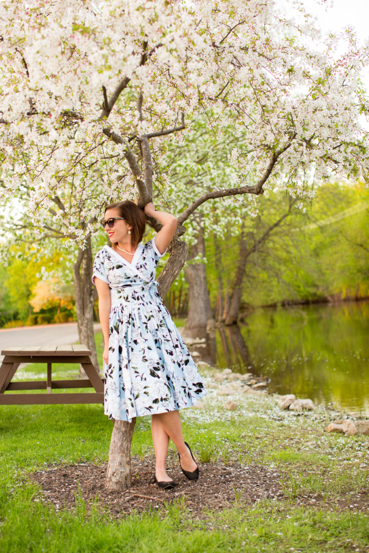The Perfect Floral Swing Dress for Summer Soirees