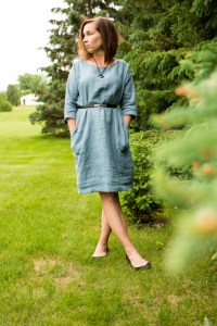 LOOSE-FIT LINEN DRESS MARRAKESH