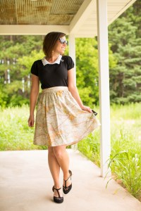 map skirt moving outfit