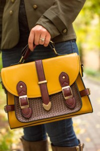 ModCloth Mustard yellow bag