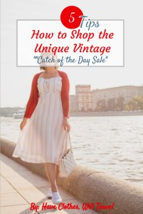 """Trying Out a Unique Vintage """"Catch of the Day"""" Dress"""