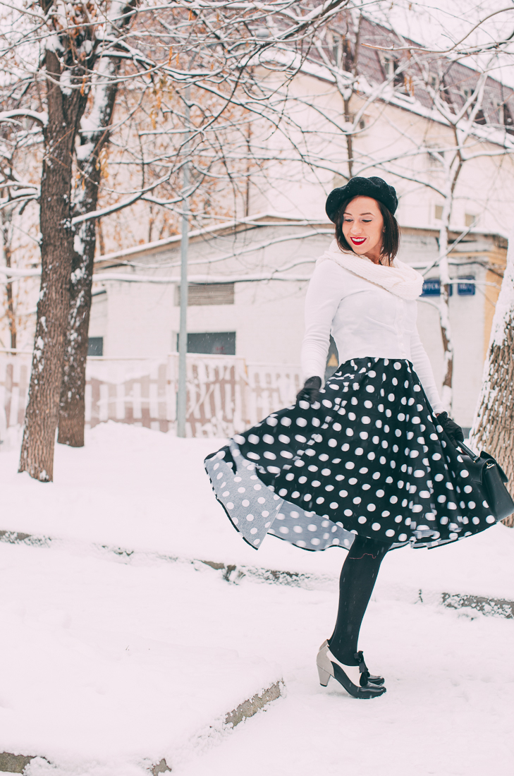Wearing a Summer Swing Dress in a Winter Wonderland