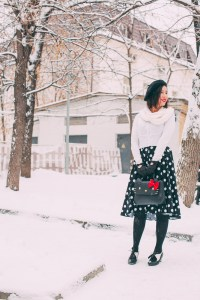 Wearing a Summer Swing Dress in a Winter Wonderland