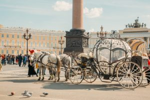 carriage ride in St. Petersburg Russia