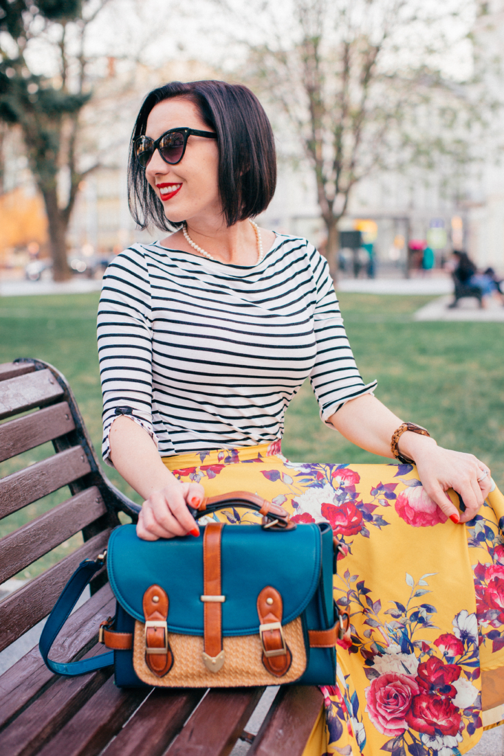 Teal Vintage Style Bag by ModCloth
