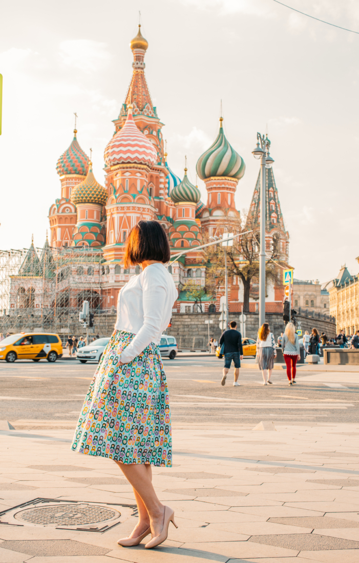 Outfit Fun in Russia - Featuring a Nesting Doll Dress