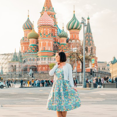 Outfit Fun in Russia – Featuring a Nesting Doll Dress