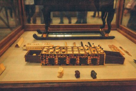 An ancient Egyptian game similar to chess.