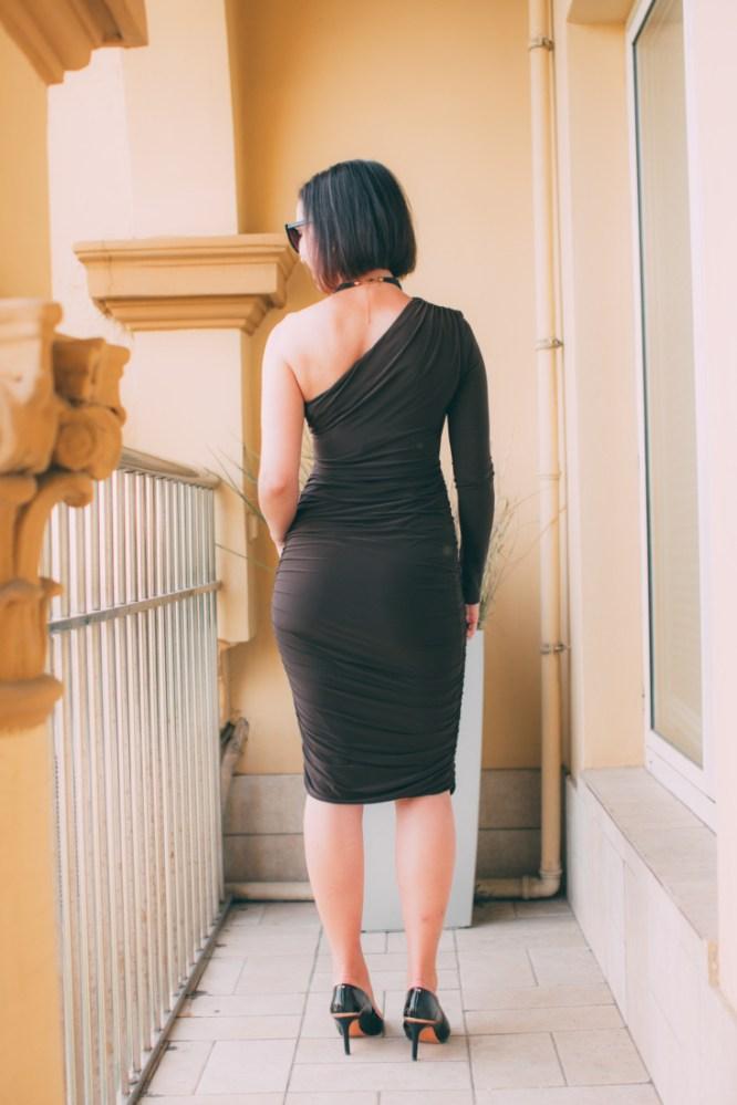 Femme Luxe One Shoulder Midi Dress